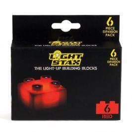 Light Stax Light Stax - rozširujúca súprava - 6 kociek červených