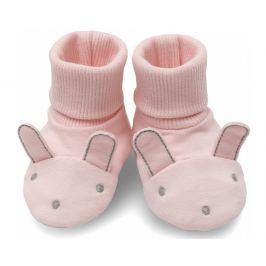 Pinokio Dievčenské topánočky / ponožky Colette - ružové