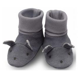 Pinokio Detské topánočky / ponožky Colette - šedé
