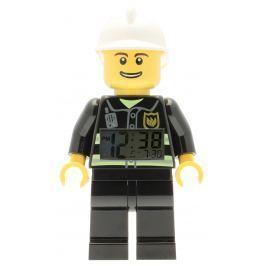 LEGO® Watch & Clock Detské hodiny s budíkom City Fireman