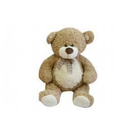 Teddies Medveď s mašľou - 80 cm - béžový