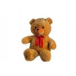 Teddies Medveď s mašľou - 80 cm - svetlo hnedý