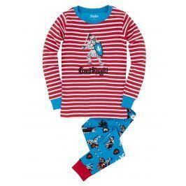 Hatley Chlapčenské pyžamo s rytierom - farebné
