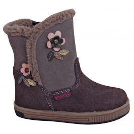 Protetika Dievčenské zimné topánky Simona - šedé