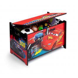 Delta Detská truhla na hračky Cars 2 - farebná