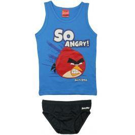 E plus M Chlapčenský set tielka a slipov Angry Birds - modrý