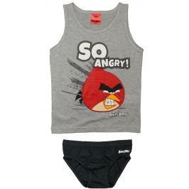 E plus M Chlapčenský set tielka a slipov Angry Birds - sivý