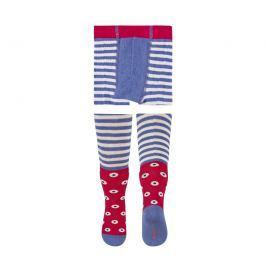 SOXO® Dievčenské vzorované pančuchy - modro-červené