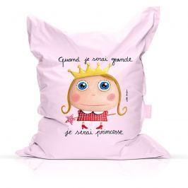Label Tour Detský sedací vak Princezná, 90x120 cm - svetlo ružový