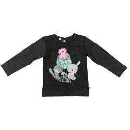 MMDadak Dievčenské tričko Forest - čierne