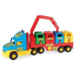 WADER Auto Super Truck smetiari plast 75 cm - modrý