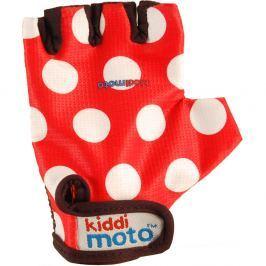 Kiddimoto Cyklistické rukavice Dotty - červenej, veľkosť S