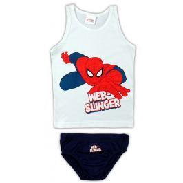 E plus M Chlapčenský komplet tielka a slipov Spiderman - bielo-čierny