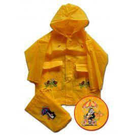 PIDILIDI Detská pláštenka Krtko - žltá