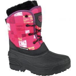 ALPINE PRO Dievčenská zimná obuv Pingora - ružovo-čierne