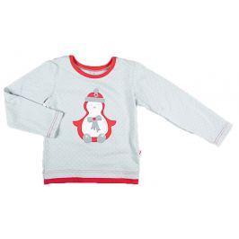 MMDadak Dievčenské tričko so snehuliakom - farebné