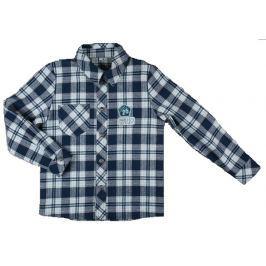 MMDadak Chlapčenská kockovaná košeľa - šedá