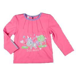 MMDadak Dievčenské tričko s jednorožcom - ružové