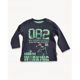 Blue Seven Chlapčenské tričko so psíkom - čierne
