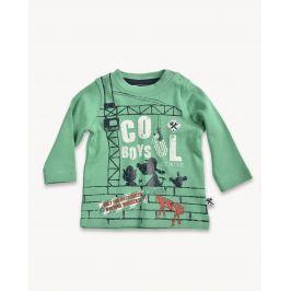 Blue Seven Chlapčenské tričko so žeriavom - zelené