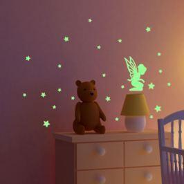 MaDéco Nástenná svietiaca samolepka Víla s hviezdičkami