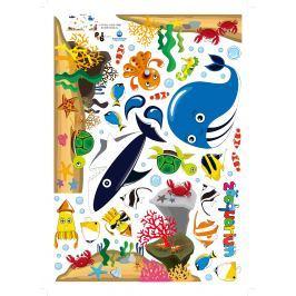 MaDéco Nástenná samolepka Veľryba a morský svet