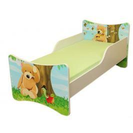 Ourbaby Detská posteľ Medvídek, 140x70 cm