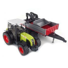 Bruder Farmer - traktor Claas Nectis s predným nakladačom a prívesom
