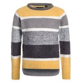 Blue Seven Dievčenské pruhovaný sveter - béžovo-šedý