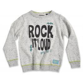 Blue Seven Chlapčenský sveter Rock it loud - svetlo sivý