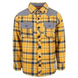 Blue Seven Chlapčenská károvaná košeľa - žltá