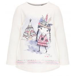 Blue Seven Dievčenské tričko s Indiánkou - biele
