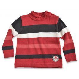 Blue Seven Detský pruhovaný sveter - červený