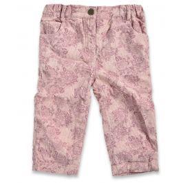 Blue Seven Dievčenské nohavice s kvetmi - béžové