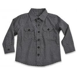 Blue Seven Chlapčenská vzorovaná košeľa čierno-biela