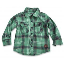 Blue Seven Chlapčenská kockovaná košeľa - zelená