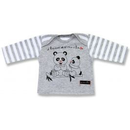 Lafel Detské tričko Panda - sivé