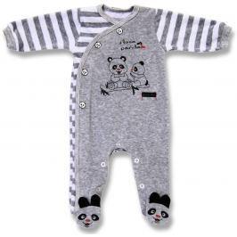 Lafel Detský zavinovacie overal Panda - sivý