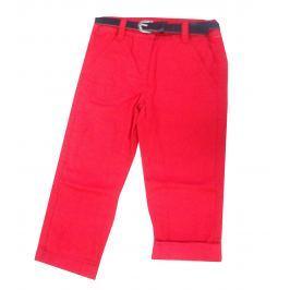 Blue Seven Dievčenské nohavice s opaskom - červené