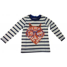 Blue Seven Detské prúžkované tričko s líškou - modro-biele