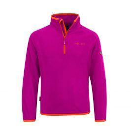 Trollkids Dievčenské fleecová bunda Nordland - oranžovo-ružová