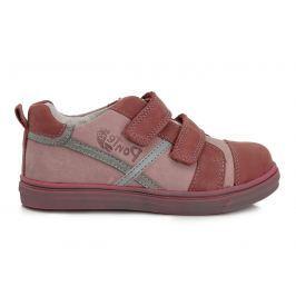 Ponte 20 Dievčenské kožené topánky - červené