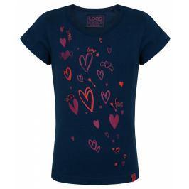 LOAP Dievčenské tričko ibišteka - modré