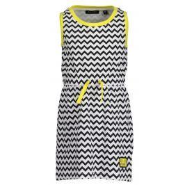 Blue Seven Dievčenské šaty cik cak - čierno-biele