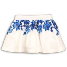 Minoti Dievčenská sukňa s kvetinami Praire - biela