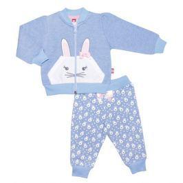 2be3 Dievčenská tepláková súprava Bunny - modrá