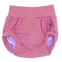 Lamama Dievčenské nohavičky na plienku - červeno-biele