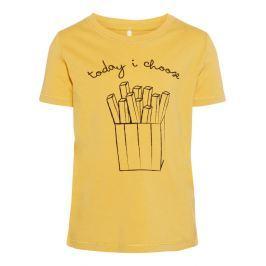 Name it Chlapčenské tričko Hranolky - žlté