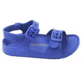 Canguro Chlapčenské gumové sandále - modré