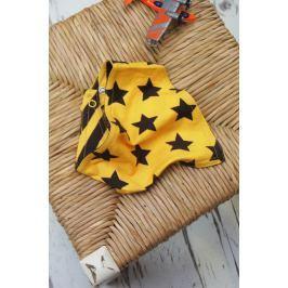 Blade & Rose Dievčenská šatka s hviezdičkami a prúžkami - žlto-čierny